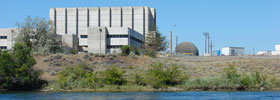 nuclear reactor on river